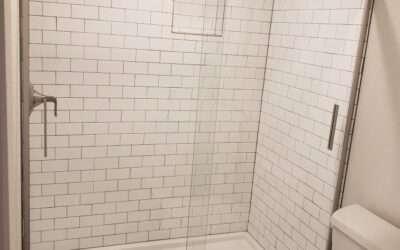 Denver City Basement Bathroom Remodel – Stained Concrete Floor